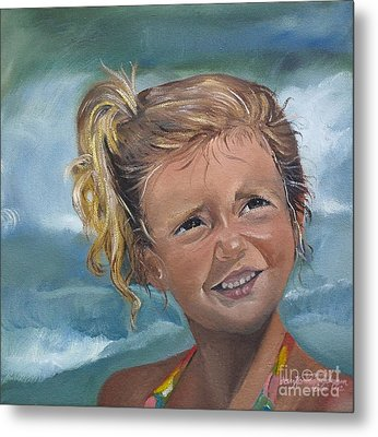 Portrait - Emma - Beach Metal Print