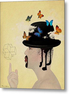 Portrait Hat Metal Print by Mark Ashkenazi