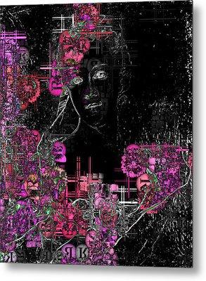 Portrait In Black - S01-02b Metal Print