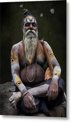 Portrait O Sadhu IIi Metal Print