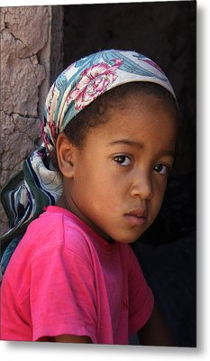 Portrait Of A Berber Girl Metal Print