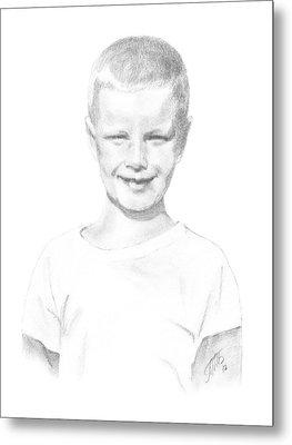 Portrait Of A Boy Metal Print