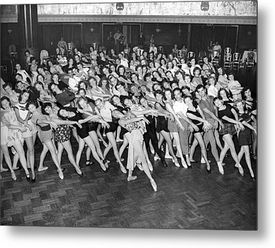 Portrait Of A Dance Group Metal Print by Underwood Archives