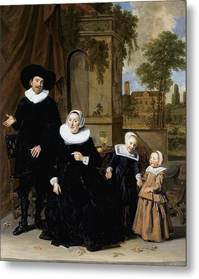 Portrait Of A Dutch Family Metal Print