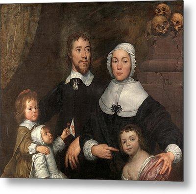 Portrait Of A Family, Probably That Of Richard Streatfeild Metal Print