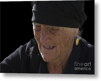 Portrait Of A Fishermans Wife Metal Print by Heiko Koehrer-Wagner
