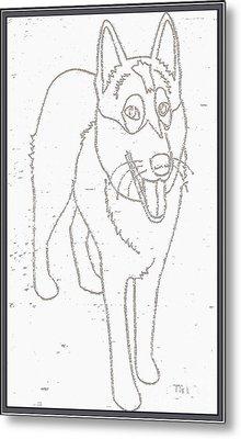 Portrait Of A Friend Poaf000001 Metal Print by Pemaro