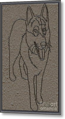 Portrait Of A Friend Poaf01 Metal Print by Pemaro