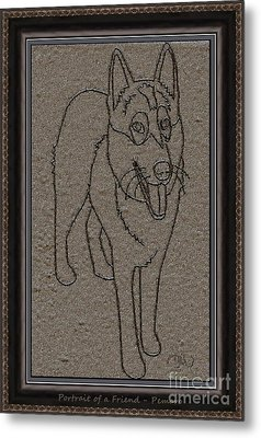 Portrait Of A Friend Poaf02 Metal Print by Pemaro