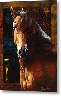 Portrait Of A Horse Metal Print by Dragan Petrovic Pavle