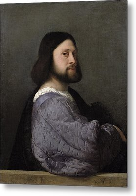 Portrait Of A Man, C.1512 Oil On Canvas Metal Print by Titian