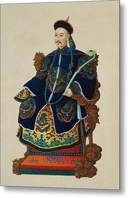Portrait Of A Mandarin Metal Print