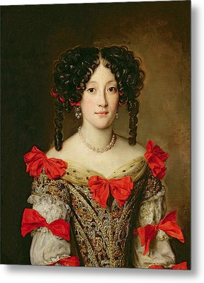 Portrait Of A Woman Metal Print by Jacob Ferdinand Voet
