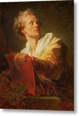 Portrait Of A Young Artist Metal Print by Jean-Honore Fragonard