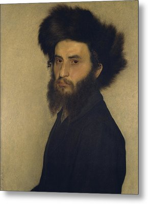 Portrait Of A Young Jewish Man  Metal Print by Isidor Kaufmann