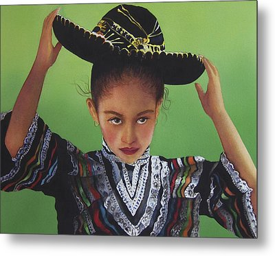 Portrait Of A Young Mexican Girl Metal Print