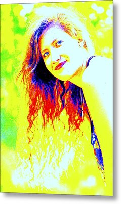 Portrait Of A Young Woman 5 Metal Print by Mamie Gunning