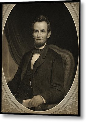 Portrait Of Abraham Lincoln Metal Print by Celestial Images
