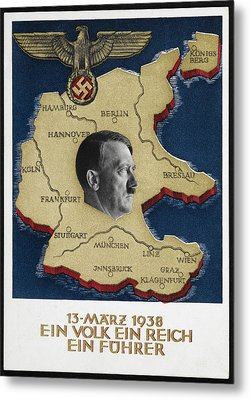 Portrait Of Adolf Hitler Metal Print by British Library