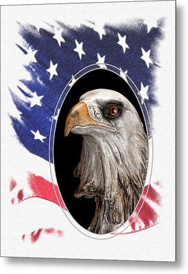 Portrait Of America Metal Print by Tom Mc Nemar