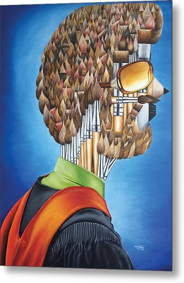 Portrait Of An Artist - Jim Meaders 1984 Metal Print
