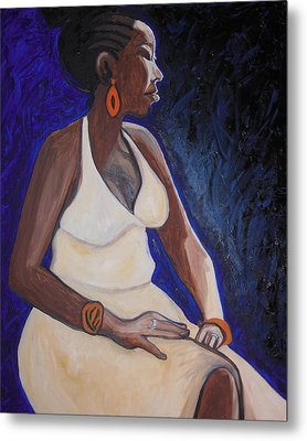 Portrait Of An Ethiopian Woman Metal Print by Esther Newman-Cohen