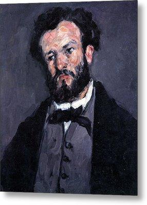 Portrait Of Antony Valabrgue By Cezanne Metal Print by John Peter