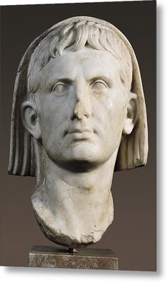 Portrait Of Augustus As Pontifex Metal Print by Everett
