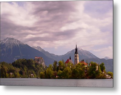 Metal Print featuring the photograph Portrait Of Bled Slovenia by Graham Hawcroft pixsellpix