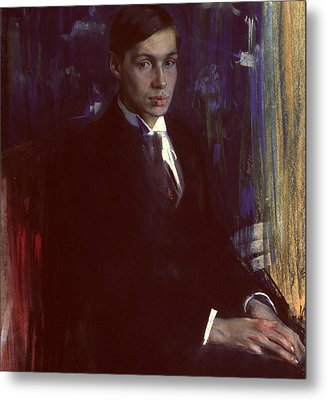 Portrait Of Boris Pasternak Metal Print by A A Murashko