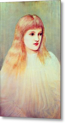 Portrait Of Cecily Horner, 1895 Metal Print
