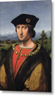 Portrait Of Charles Damboise 1471-1511 Marshal Of France Oil On Panel Metal Print by Antonio da Solario