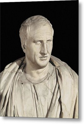 Portrait Of Cicero. Ca.   50 Bc. Roman Metal Print by Everett