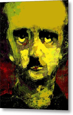 Portrait Of Edgar Allan Poe  Metal Print