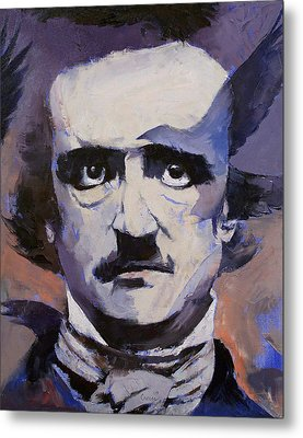 Edgar Allan Poe Metal Print by Michael Creese