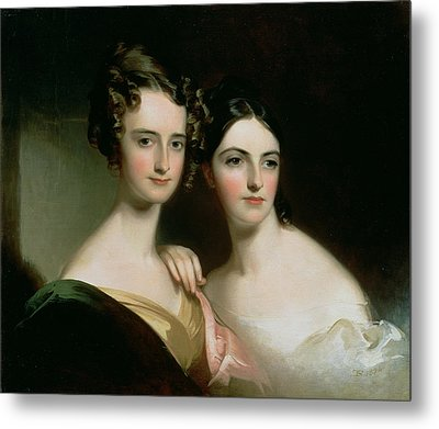 Portrait Of Ellen And Mary Mcilvaine, 1834 Oil On Canvas Metal Print by Thomas Sully