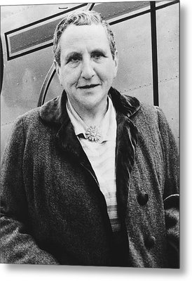 Portrait Of Gertrude Stein Metal Print by Underwood Archives