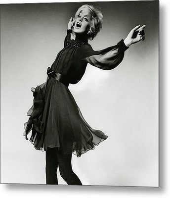 Portrait Of Goldie Hawn Metal Print