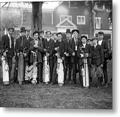 Portrait Of Golf Caddies Metal Print by Underwood Archives