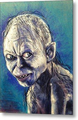 Portrait Of Gollum Metal Print by Alban Dizdari