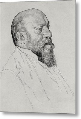 Portrait Of Hans Richter Metal Print by William Strang
