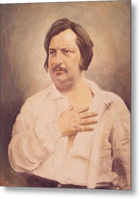 Portrait Of Honore De Balzac Metal Print by French School