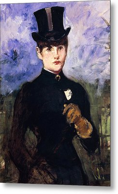 Portrait Of Horsewoman Metal Print by Edouard Manet