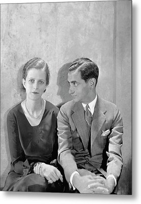 Portrait Of Irving Berlin And His Wife Metal Print by Cecil Beaton