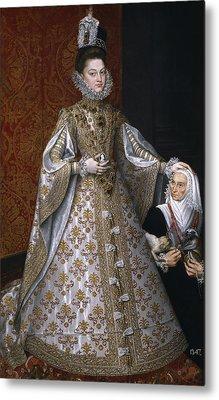 Portrait Of Isabel Clara Eugenia And Magdalena Ruiz Metal Print by Alonso Sanchez Coello