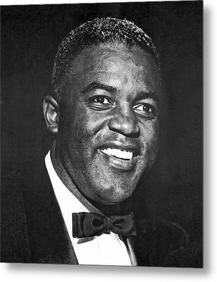 Portrait Of Jackie Robinson Metal Print by Underwood Archives