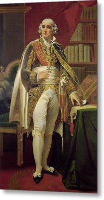 Portrait Of Jean-jacques-regis De Cambaceres 1753-1824 Oil On Canvas Metal Print