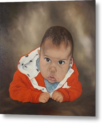 Metal Print featuring the painting Portrait Of Joshua by Jean Walker