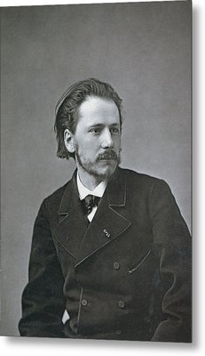 Portrait Of Jules Emile Massenet Metal Print by French Photographer
