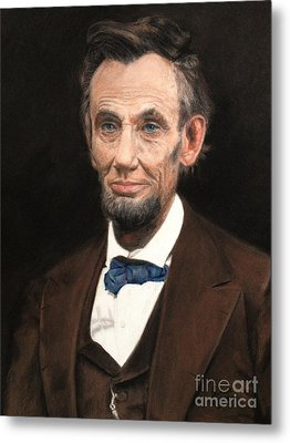 Portrait Of Lincoln Metal Print